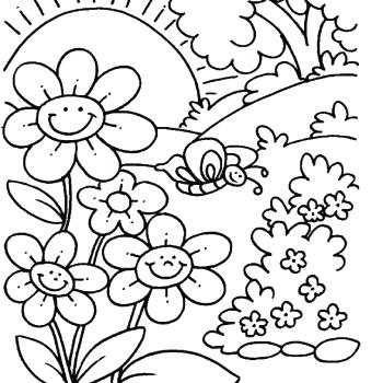 350x350 Spring Printable Coloring Pages Spring Flower Coloring Pages