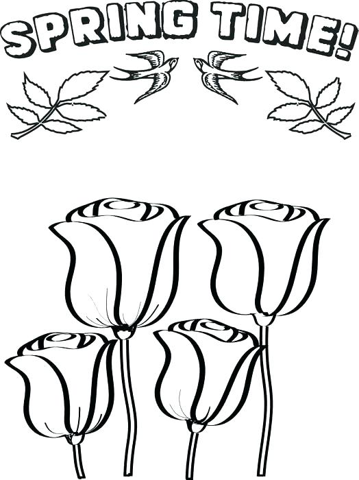 524x700 Spring Printable Coloring Pages Spring Flower Coloring Pages
