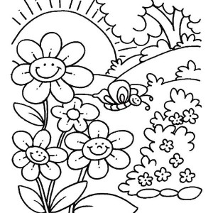 300x300 Type Of Spring Flower Spectacular Spring Flowers Coloring Pages