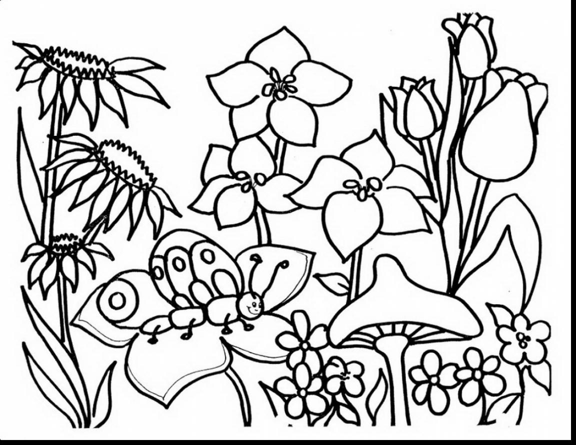 1152x891 Easter Spring Flowers Coloring Pages