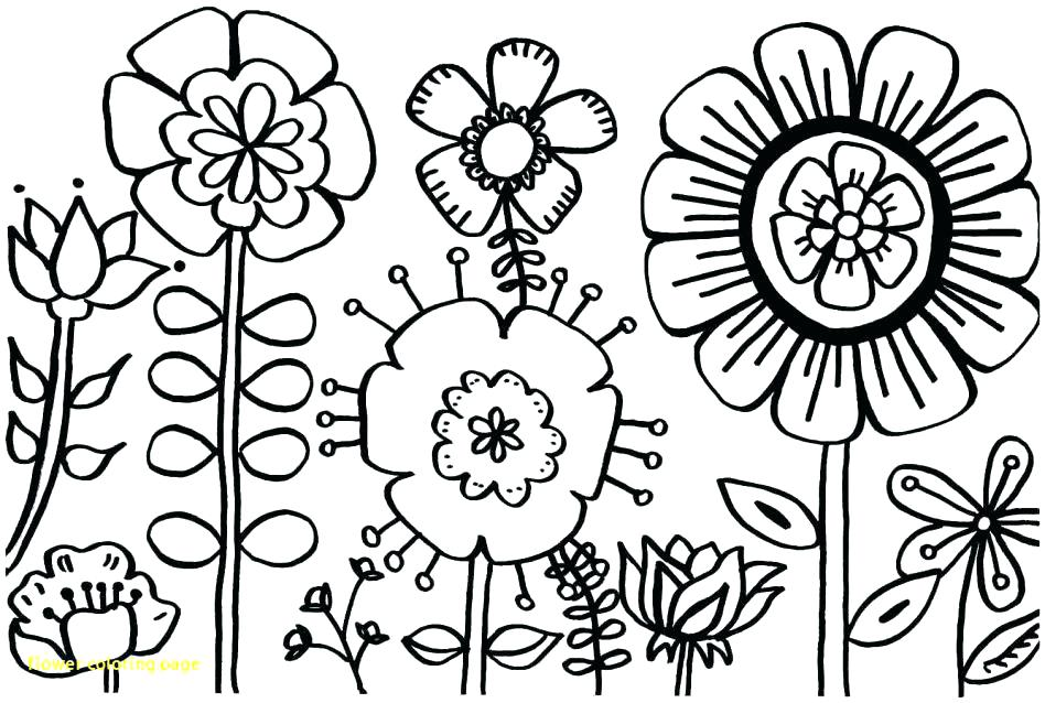 948x638 Flower Coloring Pages Printable Coloring Pages With Flowers