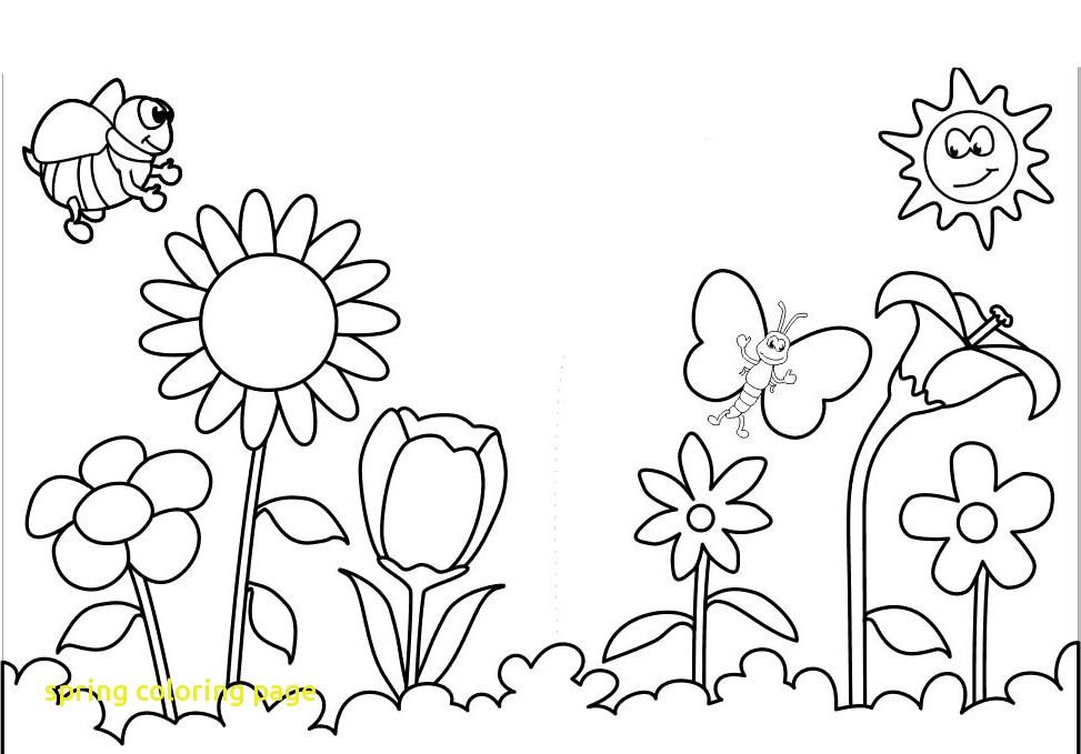 Spring Flowers Coloring Pages Printable At Getdrawings Free