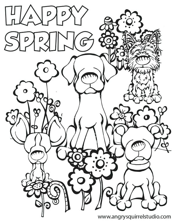 Spring Free Coloring Pages