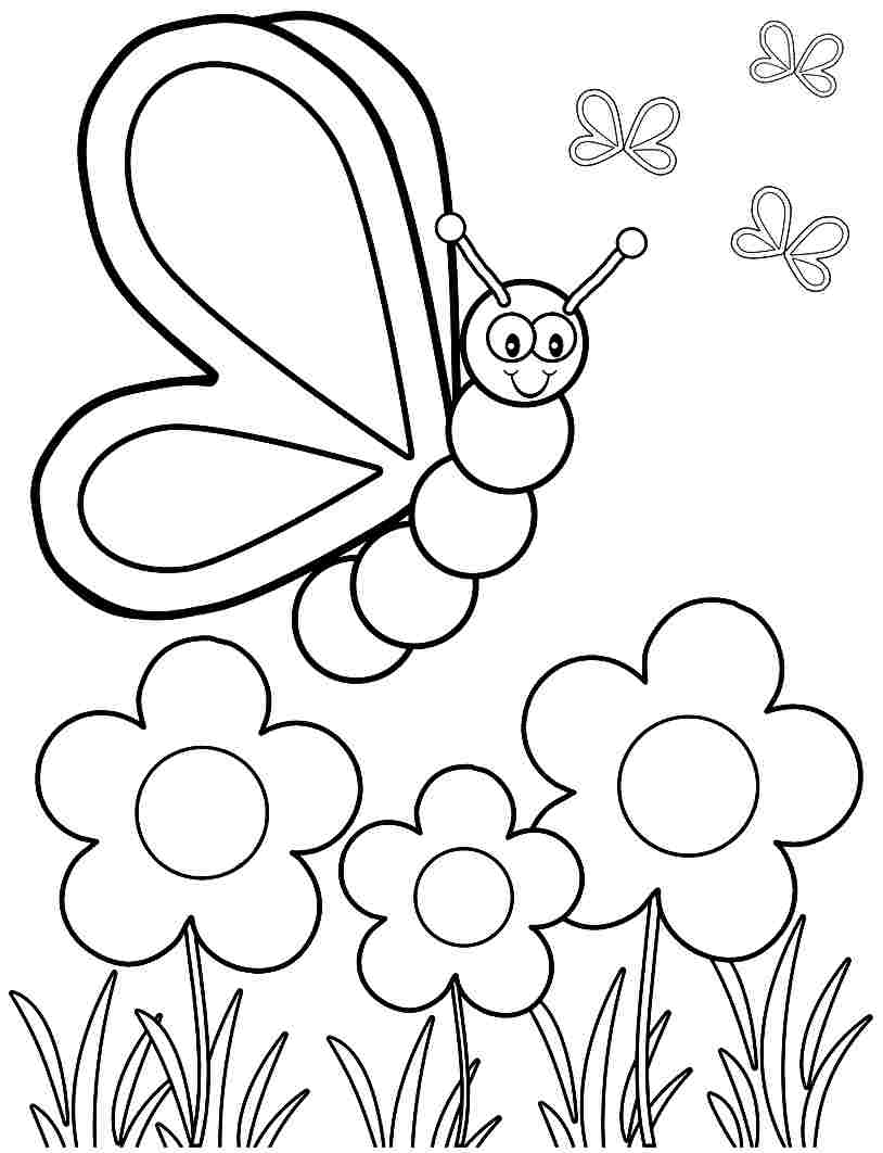 814x1062 Spring Coloring Pages For Kids Bloodbrothers Me Within Free