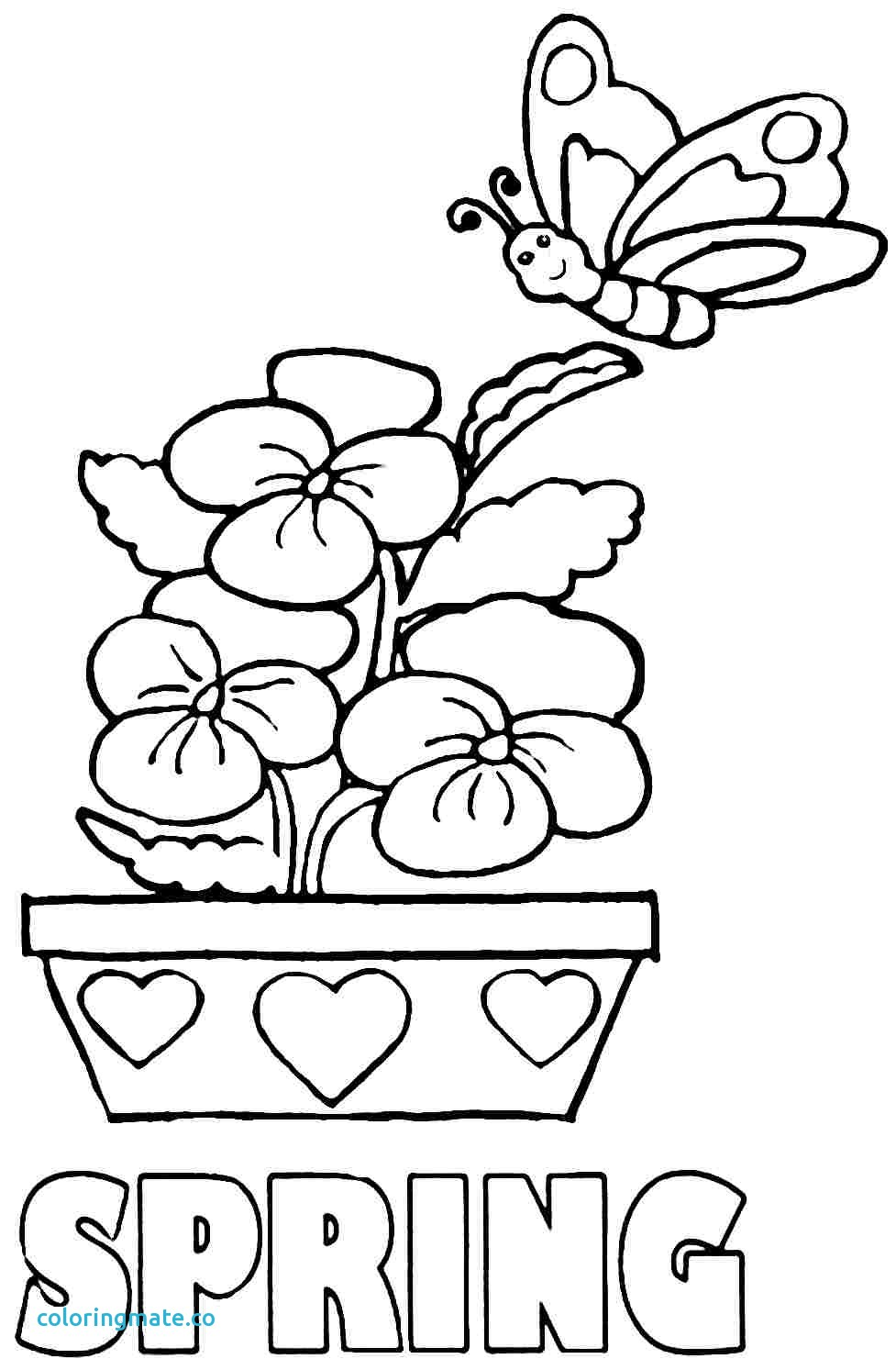 977x1493 Spring Coloring Pages Fresh Free Season Az Of Coloriafes Disney
