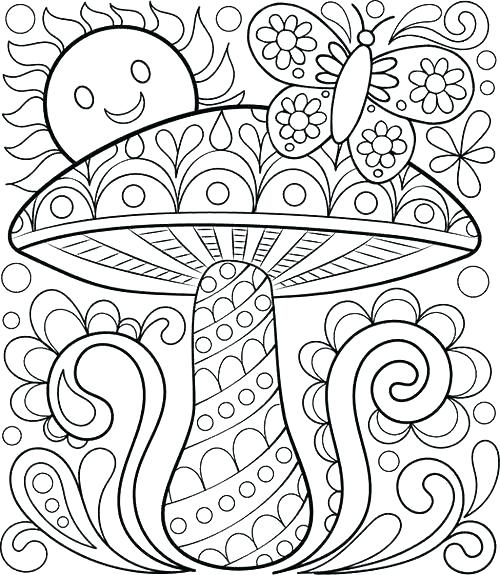 500x575 Spring Coloring Pages Sheets For Kindergarten Free