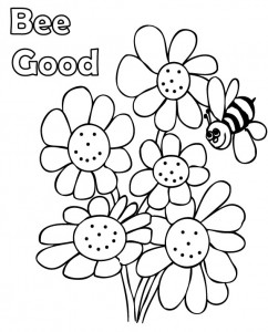 242x300 Spring Coloring Pages