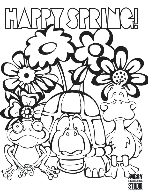 612x792 Spring Coloring Pictures Coloring Pages For Preschoolers Spring