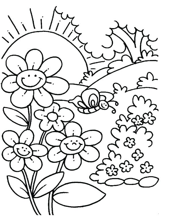 588x780 Spring Coloring Pages Free Printable Spring Coloring Pages