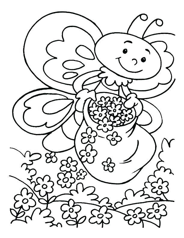 612x792 Coloring Pages Spring Coloring Pages Spring Flowers Kids Spring