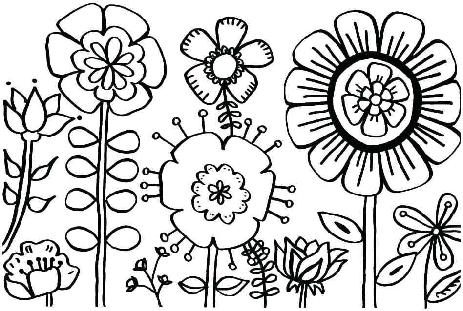 948x638 Spring Coloring Pages Free