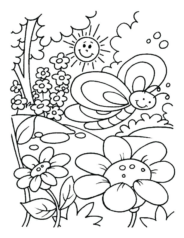 612x792 Free Coloring Pages Spring Free Coloring Pages