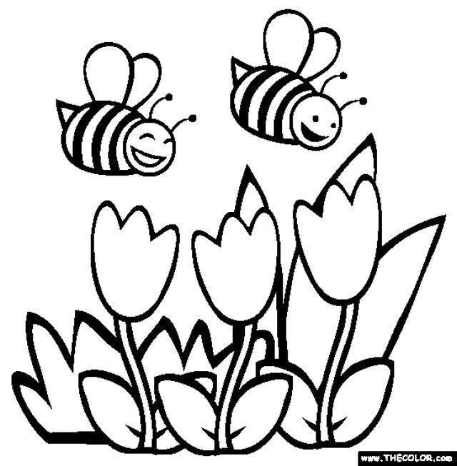 Spring Pictures Coloring Pages at GetDrawings.com | Free for ...