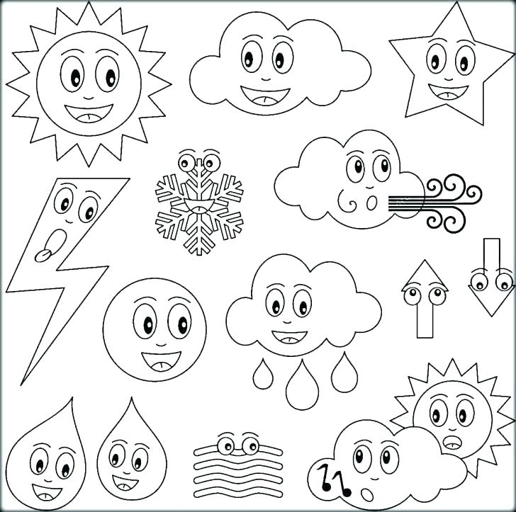 728x723 Weather Coloring Pages Spring Weather Coloring Pages Weather