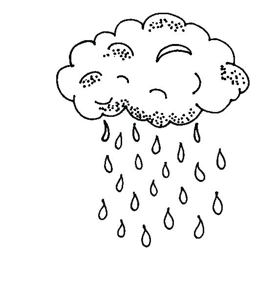 567x591 Weather Coloring Sheets Weather Coloring Pages Rainy Spring