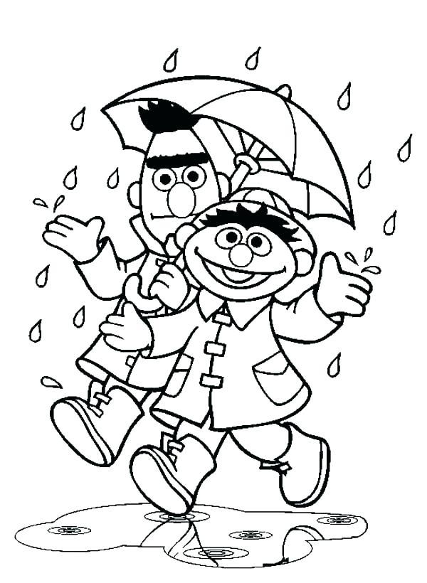 600x820 Rain Coloring Page