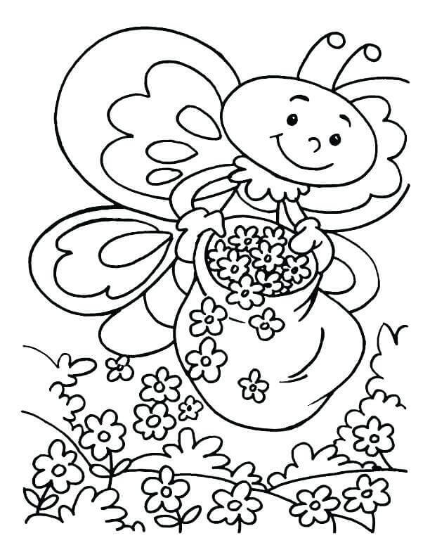 612x792 Free Printable Spring Coloring Pages
