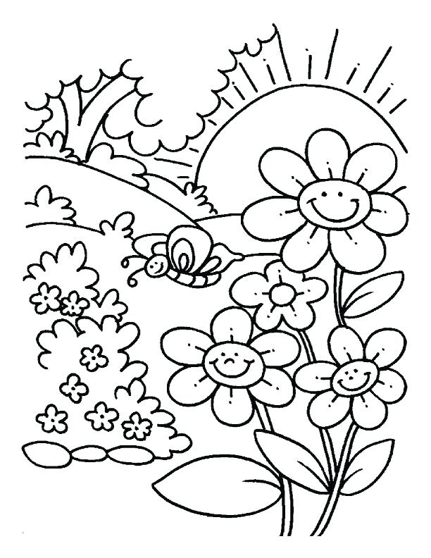 612x792 Ideas Coloring Pages For Kids Flowers And Spring Flowers Coloring