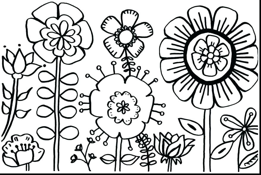 878x591 Printable Coloring Sheets For Spring Printable Coloring Pages