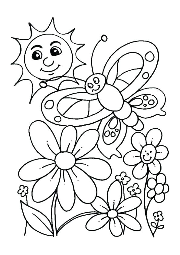595x842 Printable Spring Coloring Pages Preschool Coloring Pages For Kids