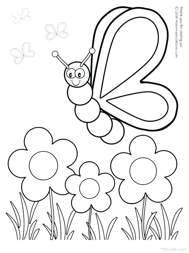 767x1024 Spring Coloring Pages Preschool Spring Themed Coloring Pages
