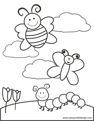 400x513 Springtime Coloring Pages Free Spring Themed Coloring Pages