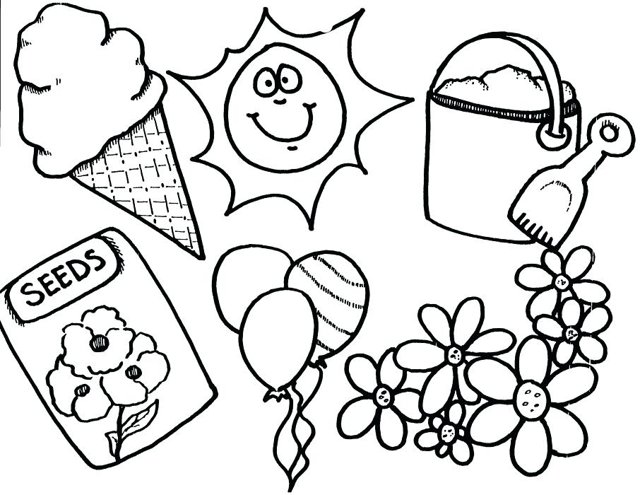 906x700 Springtime Coloring Pages Printable