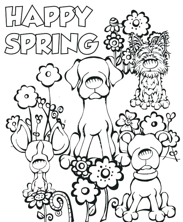 600x725 Free Printable Easter And Spring Coloring Pages Cool Spring