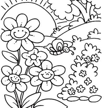 350x350 Free Printable Spring Coloring Pages Outstanding Spring Coloring