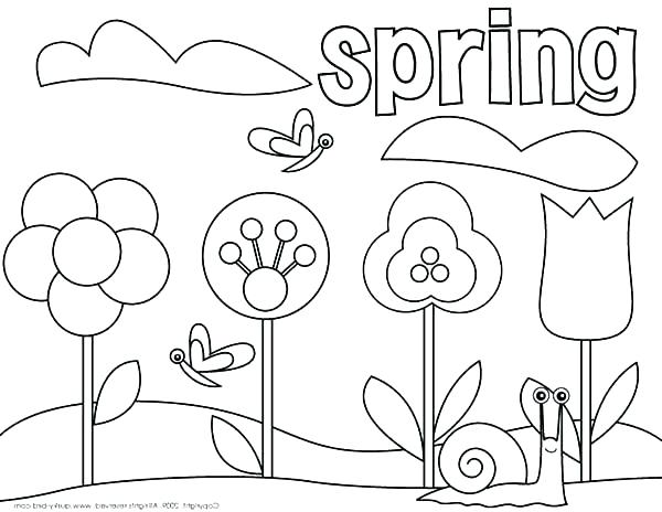 600x464 Fresh Spring Printable Coloring Pages For Coloring Spring Flowers