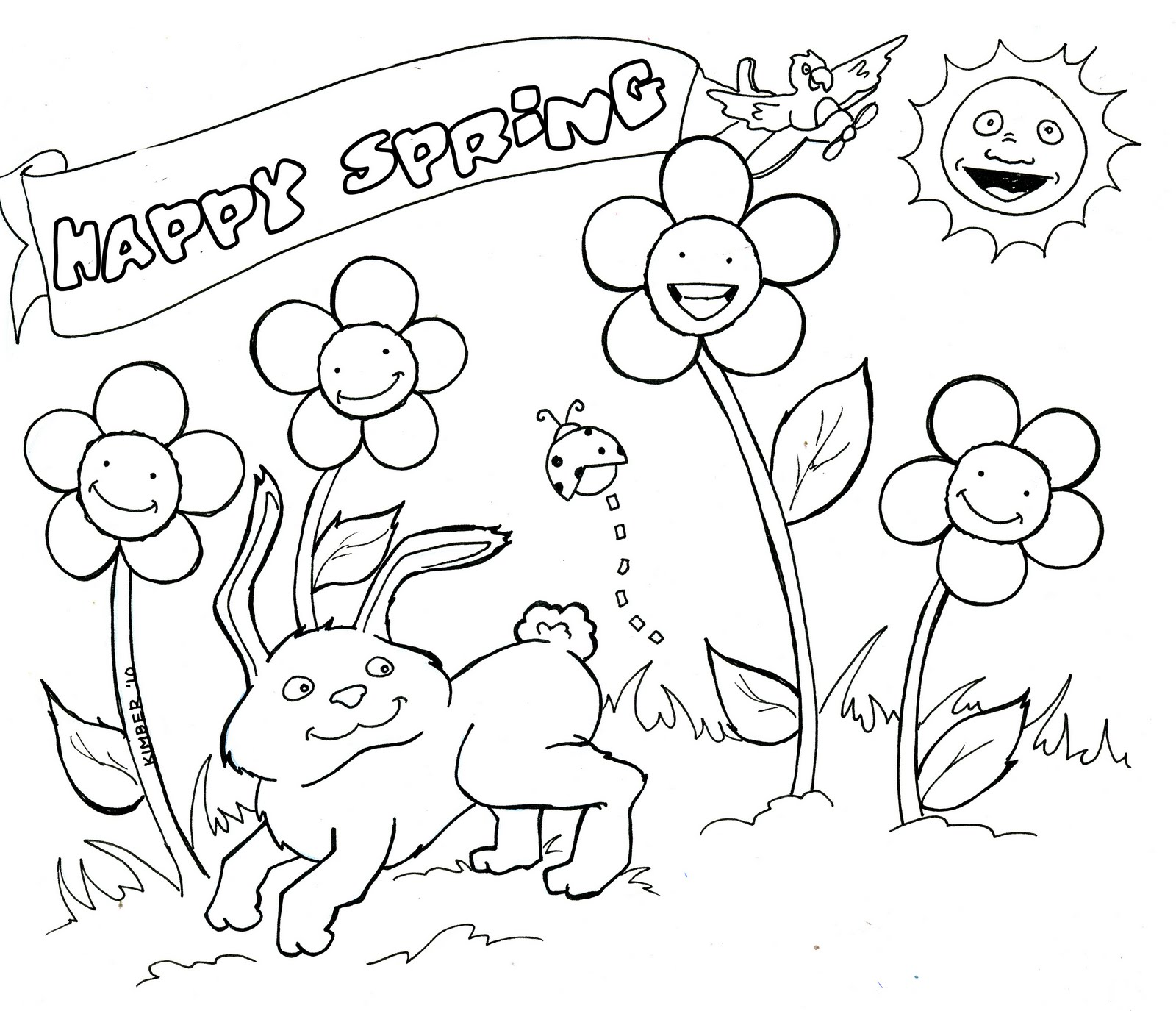 1600x1375 Printable Spring Coloring Pages