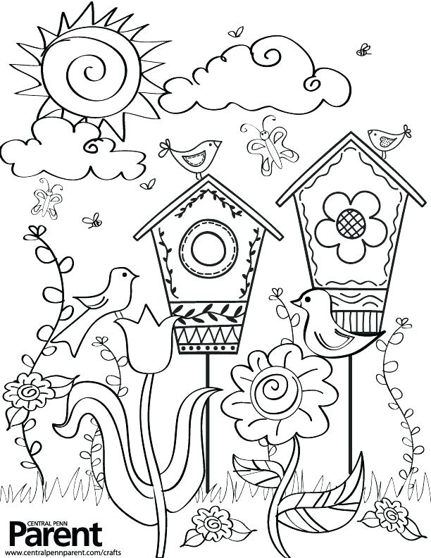 612x792 Springtime Coloring Pages Kids Spring Coloring Pages Creative Kids