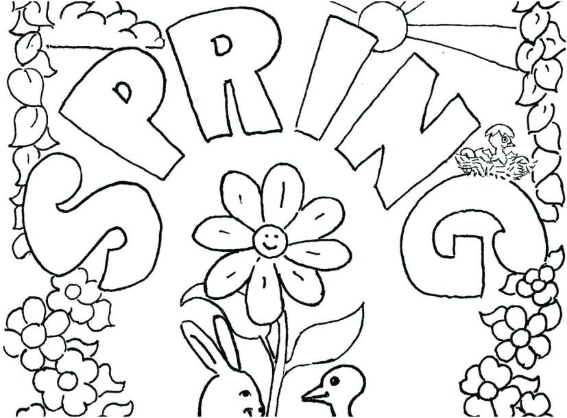 827x609 Springtime Coloring Pages Springtime Coloring Pages Spring
