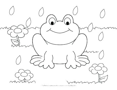 460x354 Spring Coloring Pages For Preschoolers