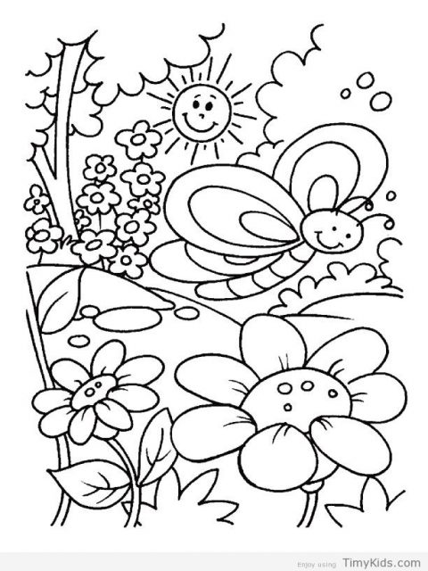 480x640 Spring Time Coloring Pages Timykids