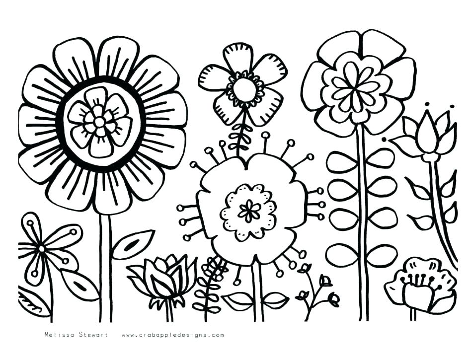 948x731 Springtime Coloring Pages