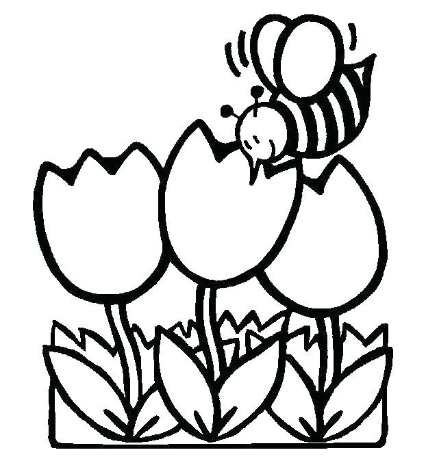 622x674 Springtime Coloring Pages