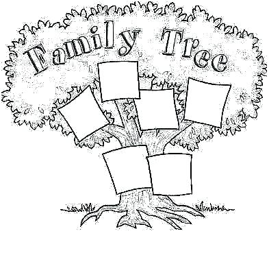 393x369 Simple Coloring Page Family Tree Coloring Page Family Tree