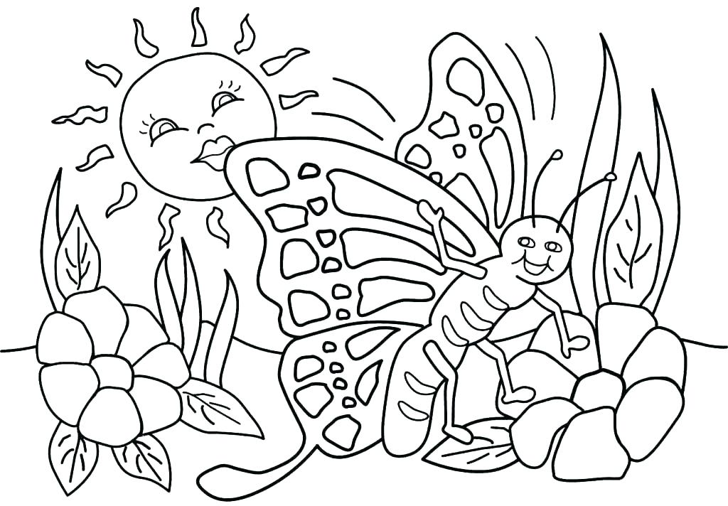 1024x712 Free Spring Coloring Pages For Kindergarten Stock Free Free Spring