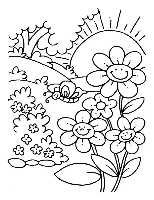 612x792 Spring Color Pages X Spring Colouring Pages For Toddlers