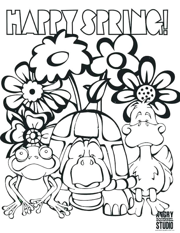 612x792 Spring Coloring Pages For Kids Printable Spring Coloring Pictures