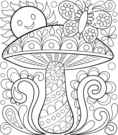 500x575 Best Of Printable Spring Coloring Pages For Sheets Kindergarten
