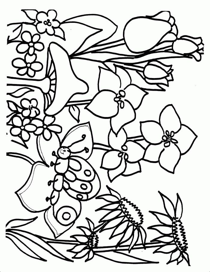 700x906 Springtime Coloring Pages Free