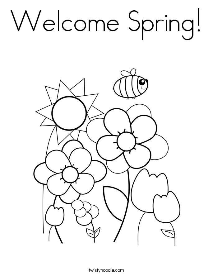 685x886 Welcome Spring Coloring Page