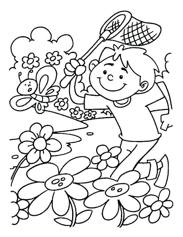 612x792 Coloring Pages Spring Detail Best Quality Printable Spring Break
