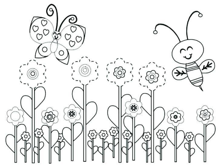720x556 Spring Coloring Pages For Kids Printable Spring Coloring Pages