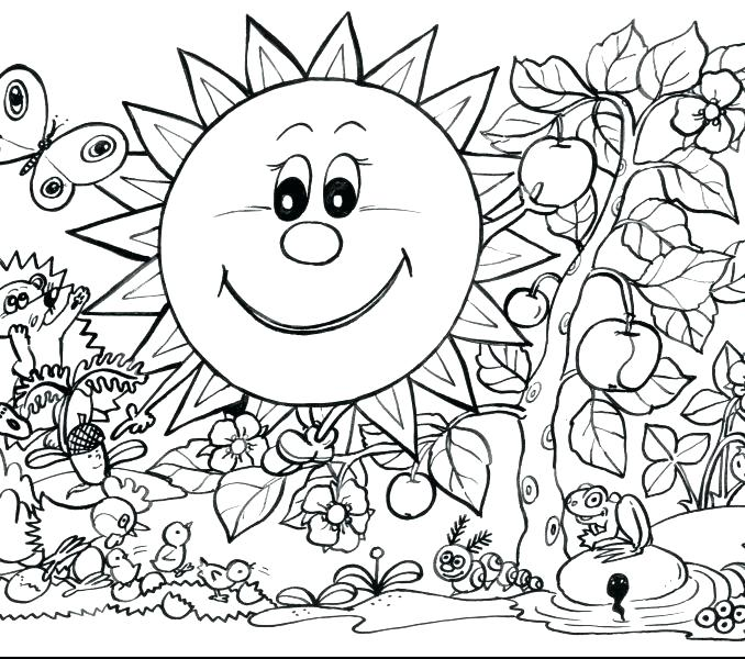 678x600 Spring Coloring Pages Free Printable Printable Spring Coloring