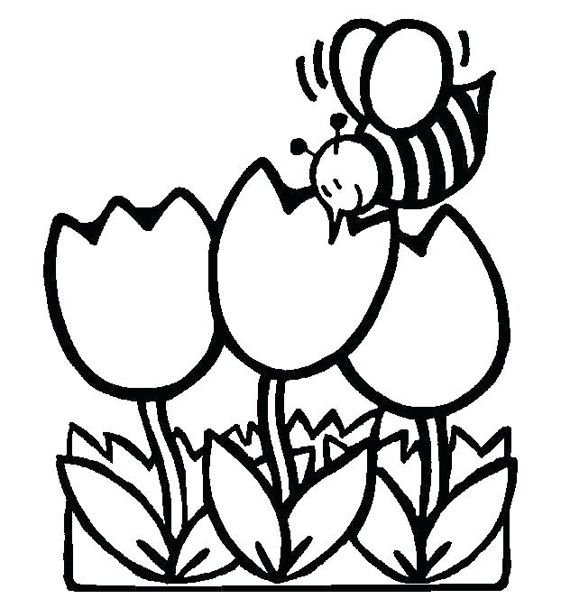 622x674 Spring Coloring Pages Printable Spring Coloring Worksheets Spring