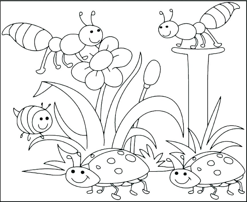863x708 Spring Coloring Pages To Print Spring Coloring Pages Print