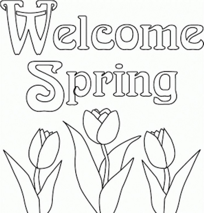 700x731 Welcome Spring Coloring Pages Color Sheets To Printable